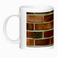 Colorful Brick Wall Night Luminous Mugs by trendistuff