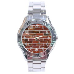 Colorful Brick Wall Stainless Steel Men s Watch by trendistuff