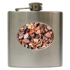 Colored Rocks Hip Flask (6 Oz) by trendistuff