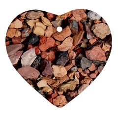 Colored Rocks Heart Ornament (2 Sides) by trendistuff