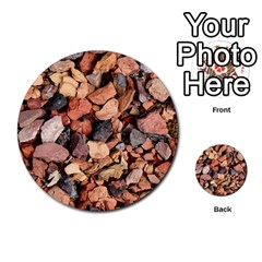 Colored Rocks Multi Purpose Cards (round)