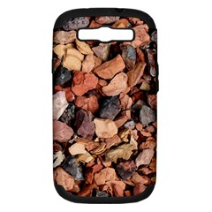 Colored Rocks Samsung Galaxy S Iii Hardshell Case (pc+silicone) by trendistuff