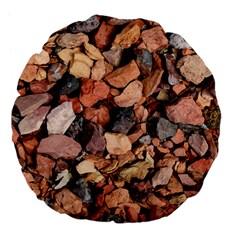 Colored Rocks Large 18  Premium Flano Round Cushions by trendistuff