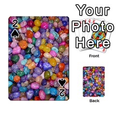 Colored Pebbles Playing Cards 54 Designs