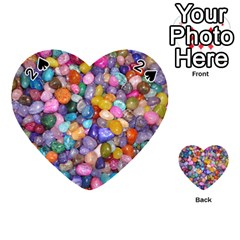 Colored Pebbles Playing Cards 54 (heart)