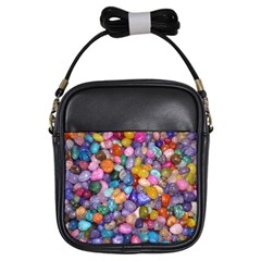 Colored Pebbles Girls Sling Bags by trendistuff