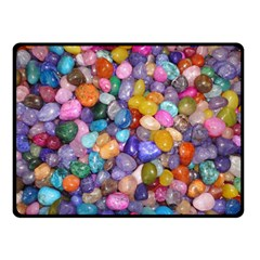 COLORED PEBBLES Double Sided Fleece Blanket (Small)  by trendistuff