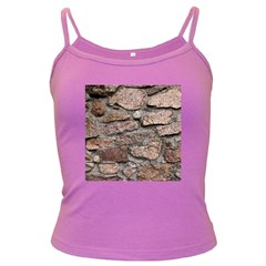 CEMENTED ROCKS Dark Spaghetti Tanks by trendistuff