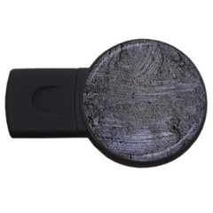 Blue Stucco Texture Usb Flash Drive Round (2 Gb)  by trendistuff