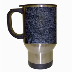 Blue Stucco Texture Travel Mugs (white) by trendistuff