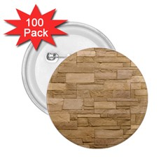 Block Wall 2 2 25  Buttons (100 Pack)  by trendistuff