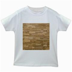 Block Wall 2 Kids White T Shirts by trendistuff