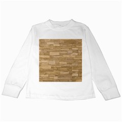 Block Wall 2 Kids Long Sleeve T Shirts by trendistuff