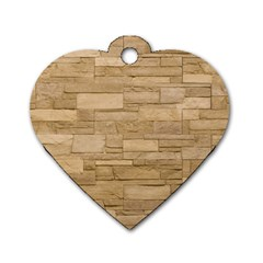 Block Wall 2 Dog Tag Heart (one Side) by trendistuff