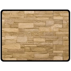 Block Wall 2 Fleece Blanket (large)  by trendistuff