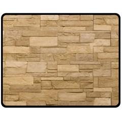 Block Wall 2 Fleece Blanket (medium)  by trendistuff