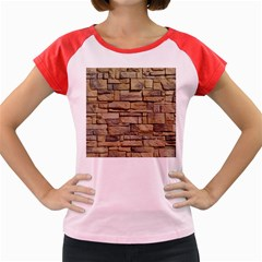 Block Wall 1 Women s Cap Sleeve T Shirt by trendistuff
