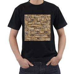 Block Wall 1 Men s T Shirt (black) (two Sided) by trendistuff