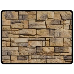 Block Wall 1 Fleece Blanket (large)  by trendistuff