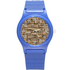 Block Wall 1 Round Plastic Sport Watch (s) by trendistuff