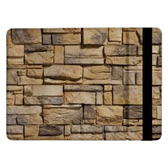 Block Wall 1 Samsung Galaxy Tab Pro 12 2  Flip Case by trendistuff
