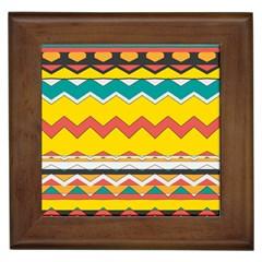 Zig Zag Framed Tile by LalyLauraFLM