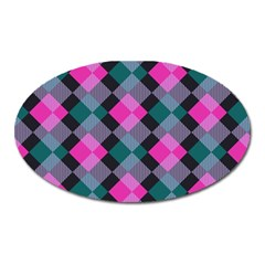Argyle Variation Magnet (oval) by LalyLauraFLM