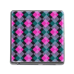 Argyle Variation Memory Card Reader (square) by LalyLauraFLM