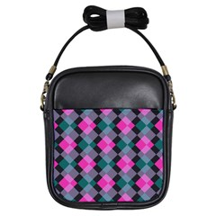 Argyle Variation Girls Sling Bag by LalyLauraFLM