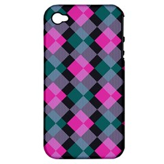 Argyle Variation Apple Iphone 4/4s Hardshell Case (pc+silicone) by LalyLauraFLM
