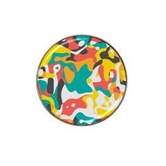 Cubist Art Hat Clip Ball Marker (4 Pack) by LalyLauraFLM