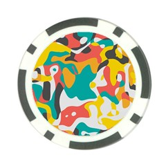 Cubist Art Poker Chip Card Guard by LalyLauraFLM