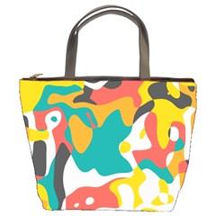 Cubist art Bucket Bag
