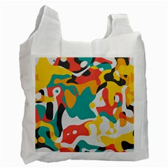 Cubist Art Recycle Bag (one Side) by LalyLauraFLM
