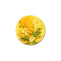 Wonderful Soft Yellow Flowers With Dragonflies Golf Ball Marker (10 Pack) by FantasyWorld7