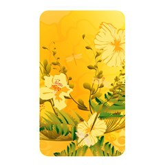 Wonderful Soft Yellow Flowers With Dragonflies Memory Card Reader by FantasyWorld7