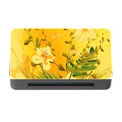 Wonderful Soft Yellow Flowers With Dragonflies Memory Card Reader With Cf by FantasyWorld7