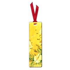 Wonderful Soft Yellow Flowers With Dragonflies Small Book Marks by FantasyWorld7