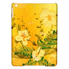 Wonderful Soft Yellow Flowers With Dragonflies Ipad Air Hardshell Cases by FantasyWorld7