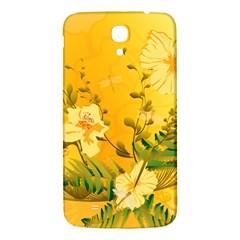Wonderful Soft Yellow Flowers With Dragonflies Samsung Galaxy Mega I9200 Hardshell Back Case by FantasyWorld7
