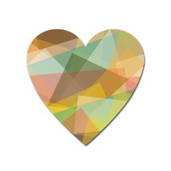 Fading Shapes Magnet (heart) by LalyLauraFLM