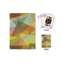 Fading Shapes Playing Cards (mini) by LalyLauraFLM