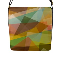 Fading Shapes Flap Closure Messenger Bag (l) by LalyLauraFLM