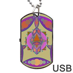 Mandala Dog Tag Usb Flash (one Side) by Valeryt