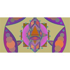 Mandala You Are Invited 3d Greeting Card (8x4)