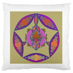 Mandala Large Flano Cushion Cases (two Sides)  by Valeryt