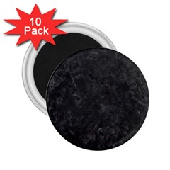 Black Marble 2 25  Magnets (10 Pack)  by trendistuff