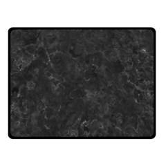 BLACK MARBLE Fleece Blanket (Small) by trendistuff