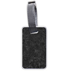 Black Marble Luggage Tags (one Side)  by trendistuff