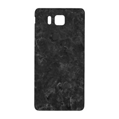 Black Marble Samsung Galaxy Alpha Hardshell Back Case by trendistuff